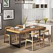晶赞 美式铁艺实木餐桌 120*60*75cm