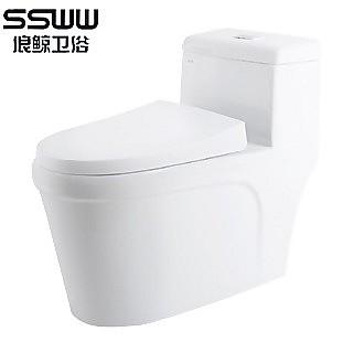【ssww/浪鲸】喷射虹吸式防臭双档节水马桶co1127