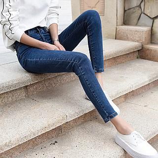 修身显瘦高腰弹力小脚裤