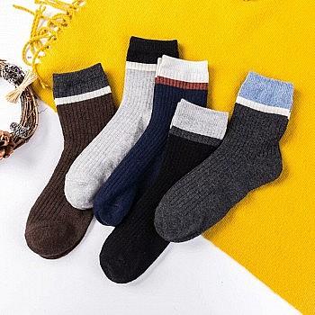 凑单品:男士羊毛袜加厚中筒袜 5双装