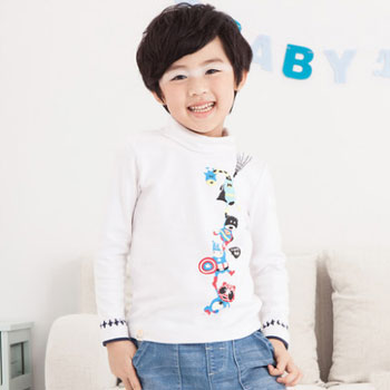 天猫初语 童装印花长袖T恤