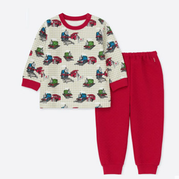 UNIQLO优衣库 婴儿/幼儿 (UT) T&F压线睡衣(长袖)