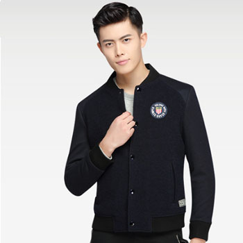 苏宁易购HODO 红豆 修身羊毛混纺夹克